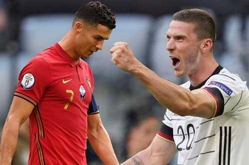 Ronaldo có một ngày thi đấu không tệ nhưng đội tuyển Bồ Đào Nha của anh vẫn thảm bại trước tuyển Đức