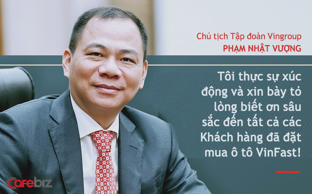 Chủ tịch Vingroup Phạm Nhật Vượng nói về xe điện VinFast: Chúng tôi không thua kém Tesla!